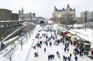 Ice skate on the Rideau Canal, Canada (UNESCO Site)