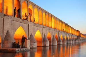 Walk across Bridges of Isfahan (Si-o-se Pol & Khaju), Iran