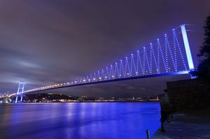 See the Bosphorus Bridge, Turkey