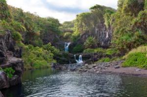 Swim in the Seven Sacred Pools (ʻOheʻo Pools), Maui, Hawaii