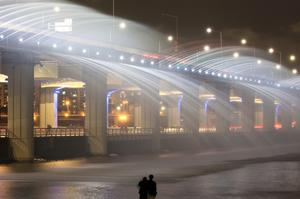 See Banpo Moonlight Rainbow Fountain Bridge, South Korea
