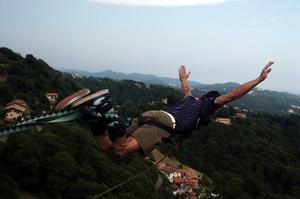 Bungee Jump from Ponte Colossus, Italy