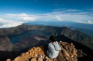 Summit Mount Rinjani, Lombok, Indonesia