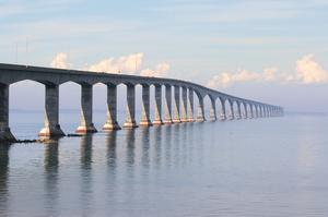 Drive across Confederation Bridge, Canada
