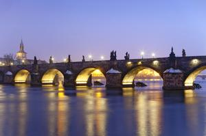 See a Sunrise from Charles Bridge, Prague, Czech Republic