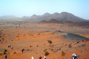 "Run in the Marathon des Sables (""The toughest race on Earth""), Morocco"