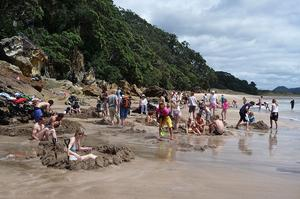 Relax at Hot Water Beach, Coromandel, New Zealand