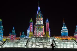 Attend the Harbin International Ice and Snow Sculpture Festival, China