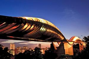 Walk across Henderson Waves Bridge, Singapore