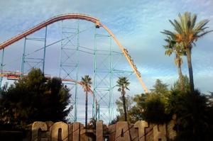 Ride Goliath Hypercoaster, Valencia, California