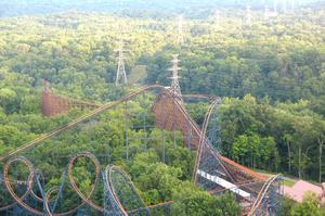 Ride The Beast, Wooden Roller Coaster, Mason, Ohio