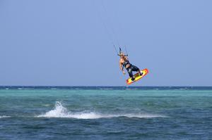 Windsurfing or Kitesurfing Bulabog Beach, Boracay Island, Philippines