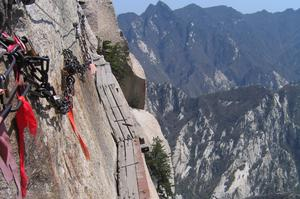 Hike the Cliff Side Plank Path of Mount Hua (Huashan), China