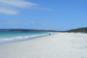 Relax on Hyams Beach 'Whitest Sand in the World', New South Wales, Australia