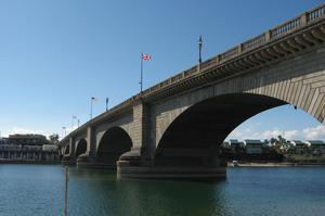 Walk across London Bridge, Lake Havasu, Arizona