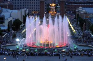 See the Magic Fountain of Montjuïc, Catalonia, Spain