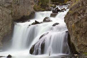 See Firehole Falls, Yellowstone National Park, Wyoming