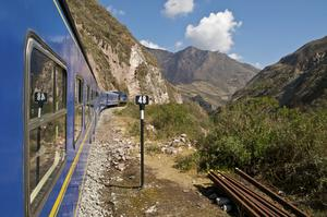 Ride PeruRail Blue Train, Cusco to Machu Picchu, Peru