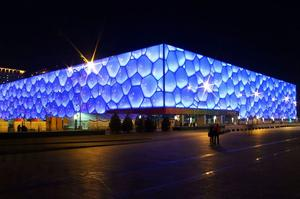 Visit Water Cube, Beijing, China
