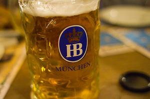 Drink Beer at Hofbräuhaus am Platzl, Munich, Germany