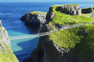 Walk across Carrick-a-Rede Rope Bridge, Northern Ireland