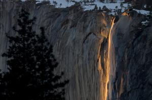 See Horsetail Fall at Sunset, Yosemite National Park