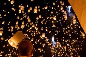 Attend a Loi Krathong Festival (Floating Fire Lanterns), Thailand, Laos, Burma & Malaysia
