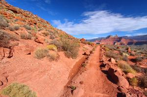Hike South Kaibab Trail to Phantom Ranch, Grand Canyon National Park