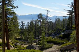 Camp at D. L. Bliss State Park, Lake Tahoe, California