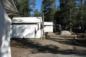 Camp at White Wolf Campground, Yosemite National Park, California