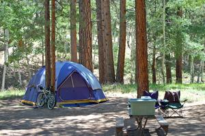 Camp at North Rim Campground, Grand Canyon National Park, Arizona