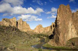 Rock Climb at Smith Rock State Park, Oregon