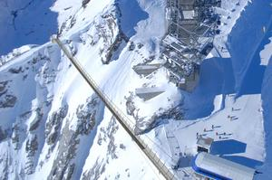 Walk across Titlis Cliff Walk, Engelberg, Switzerland
