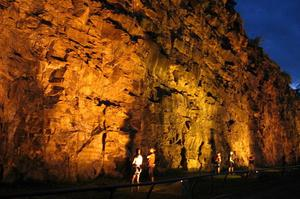 Rock Climb at Kangaroo Point Cliffs, Queensland, Australia