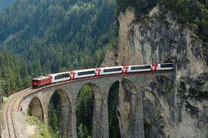 Ride the Rhaetian Railway, Switzerland & Italy (UNESCO site)